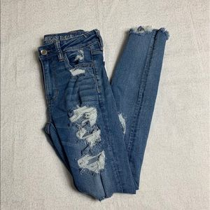 AE Blue Distressed Jeans